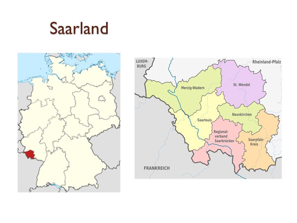 Saarland Eines der Wahrzeichen des Saarlandes: Saarschleife bei Mettlach