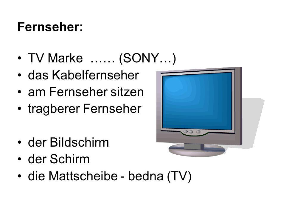 Fernseher: TV Marke …… (SONY…) das Kabelfernseher am Fernseher sitzen tragberer Fernseher der Bildschirm der Schirm die Mattscheibe - bedna (TV)