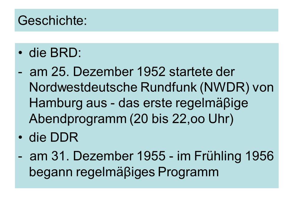 Geschichte: die BRD: - am 25.