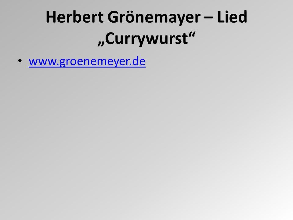 """Herbert Grönemayer – Lied """"Currywurst"""" www.groenemeyer.de"""