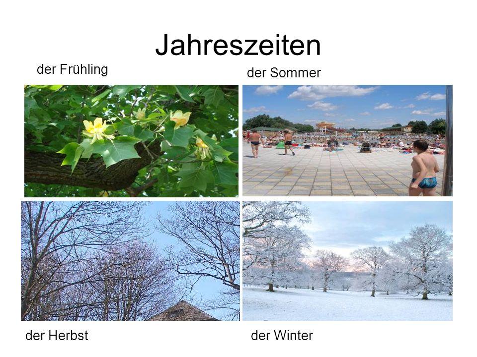 Jahreszeiten der Frühling der Sommer der Herbstder Winter