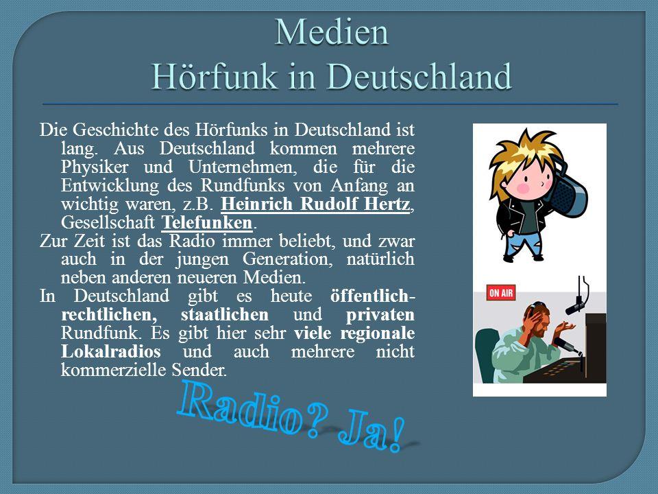 Die Geschichte des Hörfunks in Deutschland ist lang.