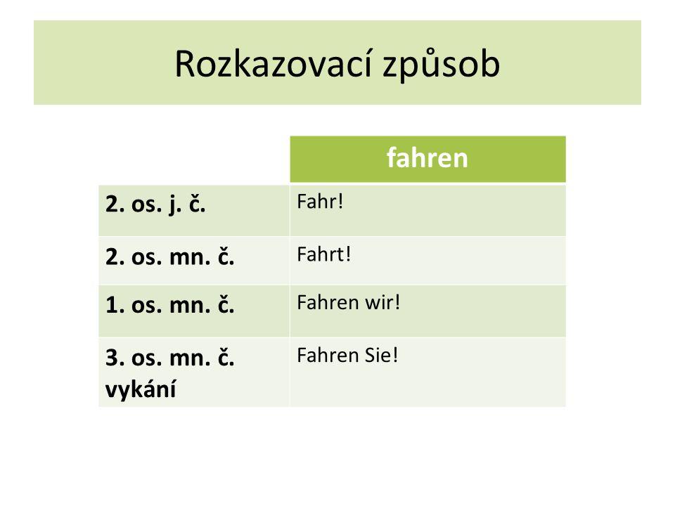 Rozkazovací způsob fahren 2. os. j. č. Fahr. 2.