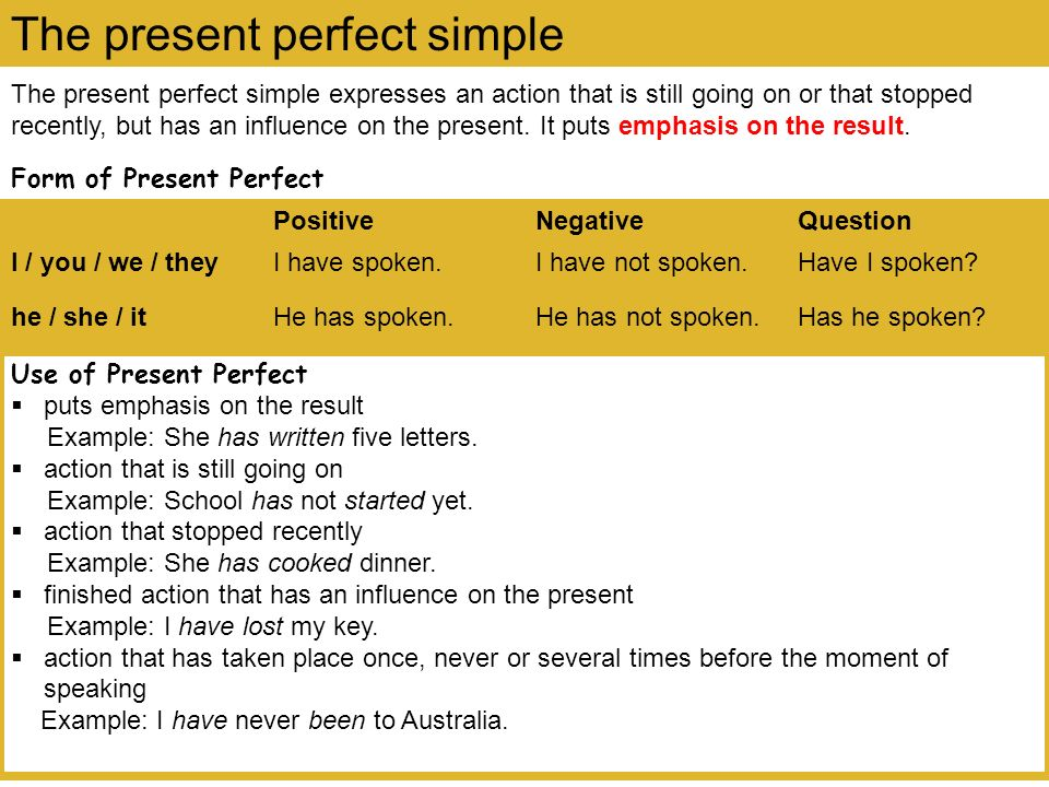 The present perfect continuous expresses an action that recently stopped or is still going on.