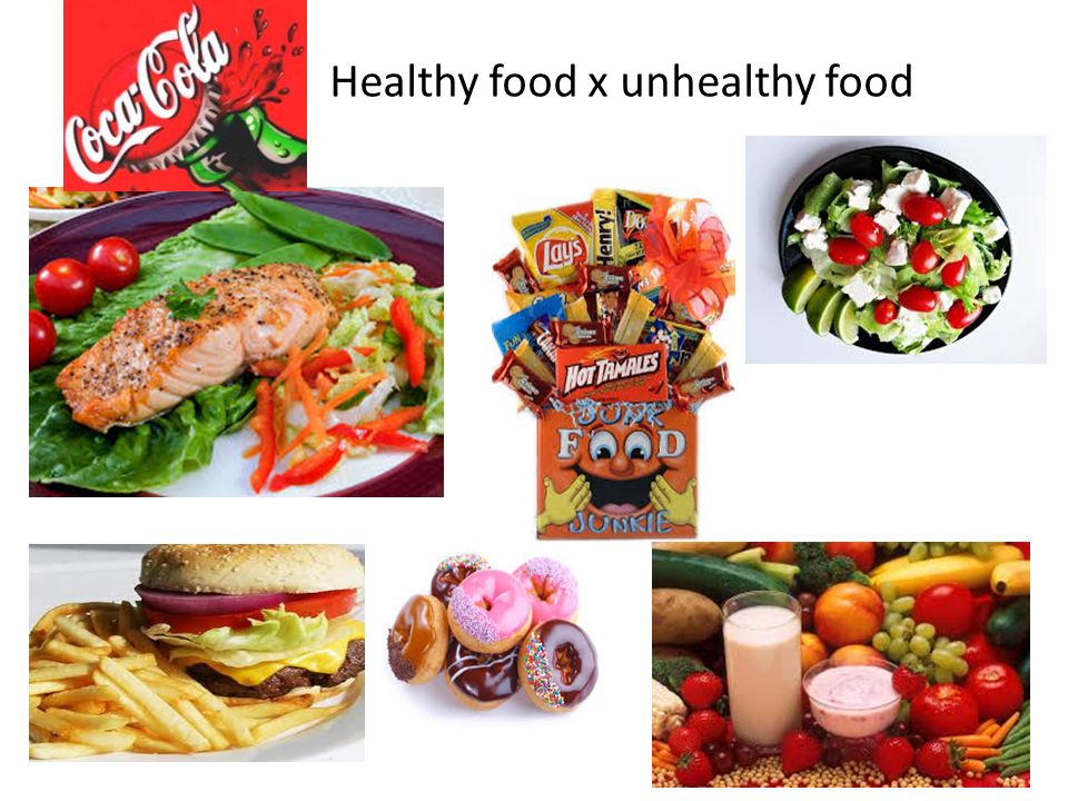 Healthy food x unhealthy food
