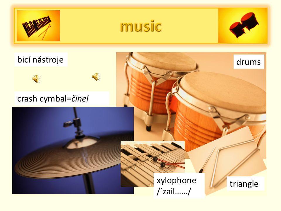žesťové nástroje French horn Lesní roh saxophone Trombone pozoun trumpet