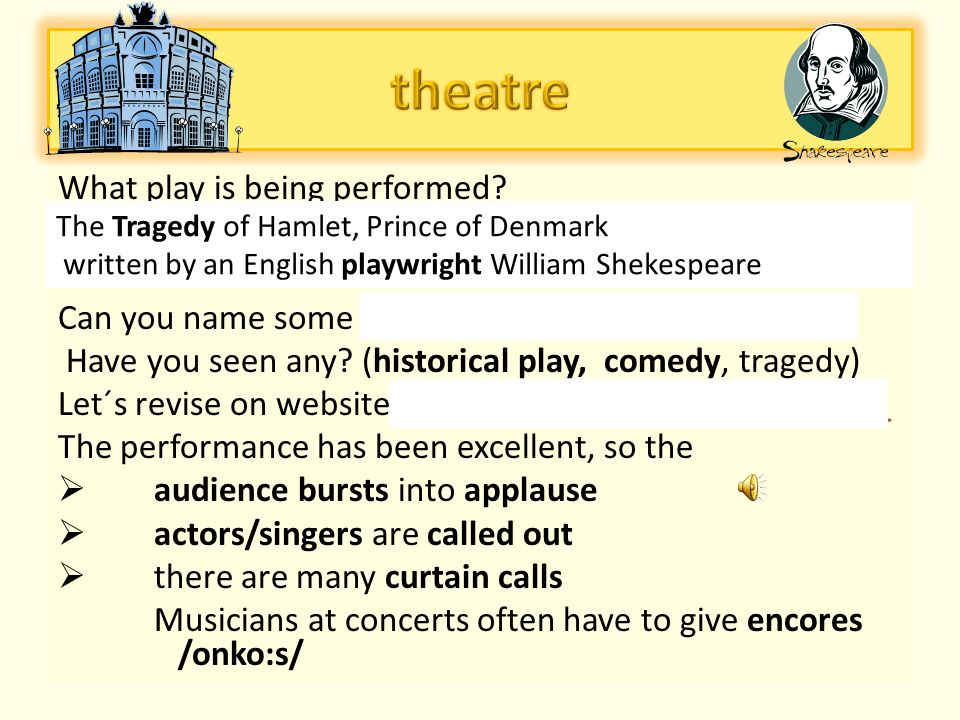 The Tragedy of Hamlet, Prince of Denmark written by an English playwright William Shekespeare