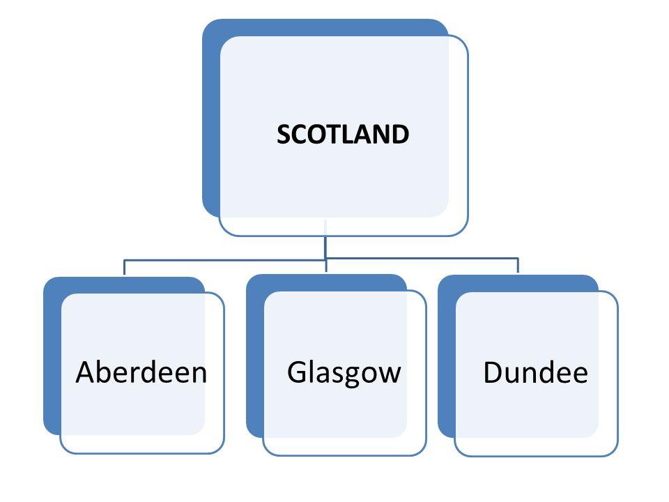 SCOTLAND Aberdee n GlasgowDundee