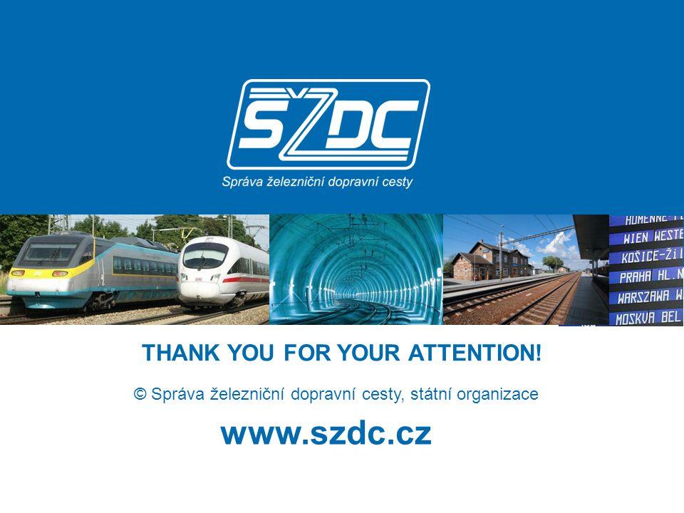 www.szdc.cz © Správa železniční dopravní cesty, státní organizace THANK YOU FOR YOUR ATTENTION!
