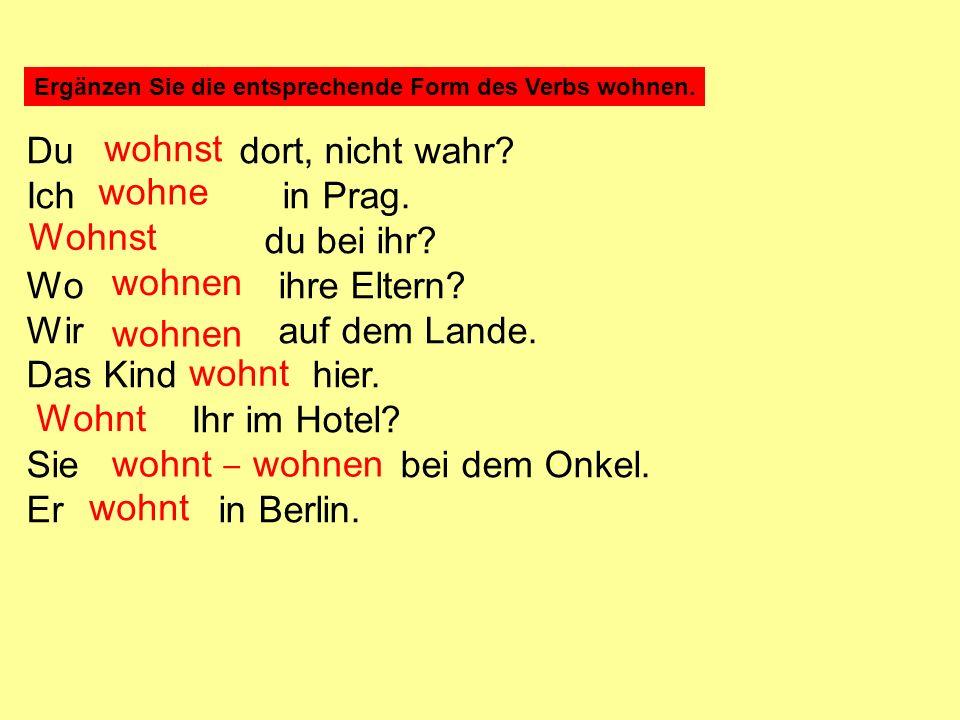 Ergänzen Sie das entsprechende Personalpronomen.Lernst Deutsch.