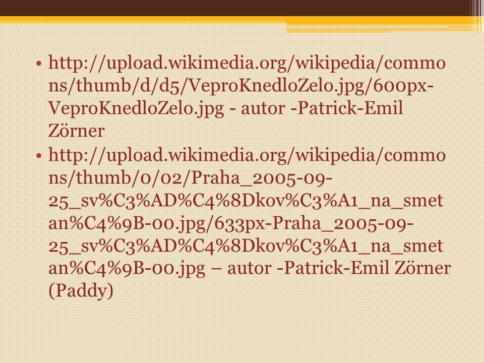 Zdroje: Formanová, Alena, Žmudová, Zdena. Němčina v gastronomii. Praha: nakladatelství Informatorium, 2000, ISBN 80 -86073-56-4 http://upload.wikimedi