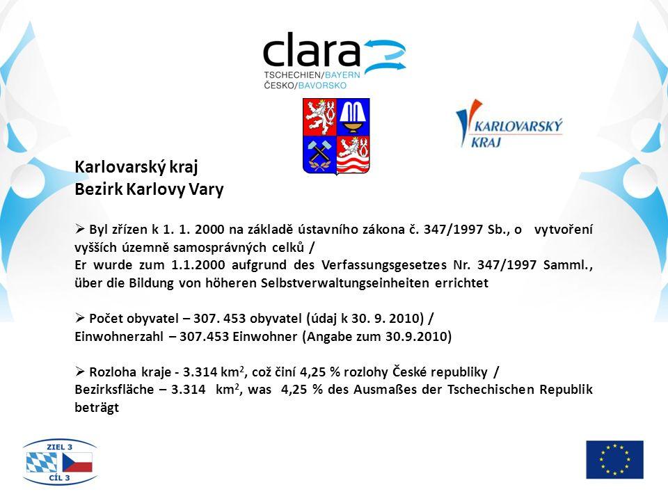 Karlovarský kraj Bezirk Karlovy Vary  Byl zřízen k 1.