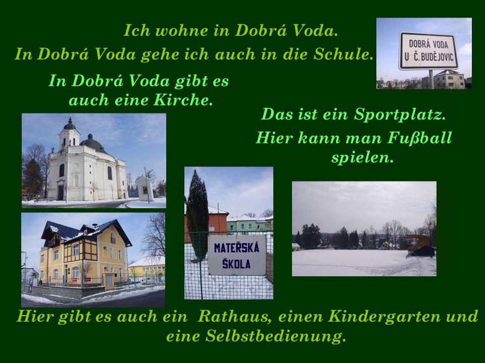 Ich wohne in Dobrá Voda. In Dobrá Voda gehe ich auch in die Schule.