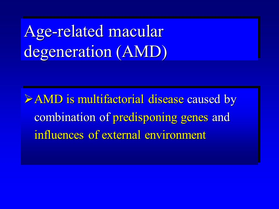  Dry form ofdrusen, RPE AMDchanges, geographic atrophy of RPE Classification of AMD