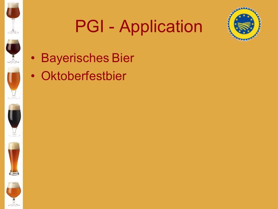PGI - Application Bayerisches Bier Oktoberfestbier