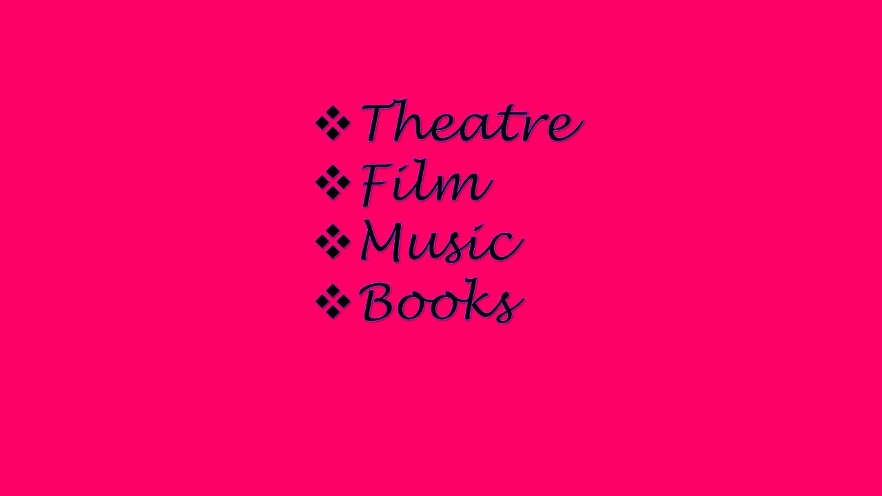 Theatre  a form of art with live performances Types of performances Types of performances dramaoperaballetmusical