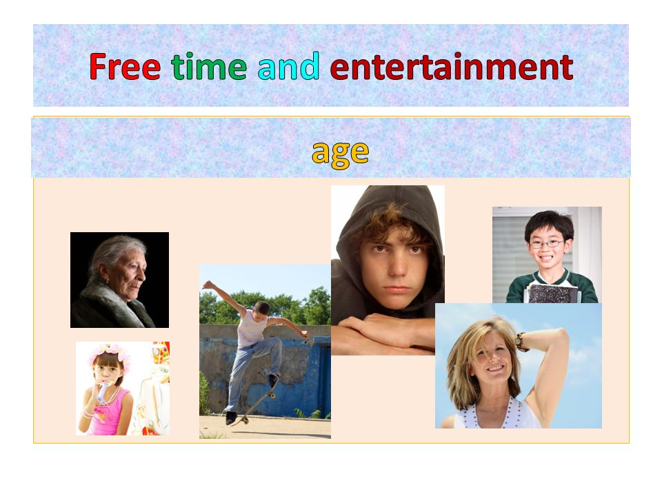 The way we spend our free time depends on many factors such as:……………..