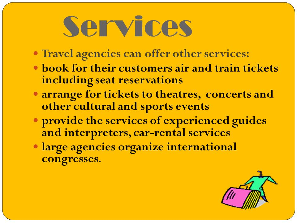 What does travel agency do.