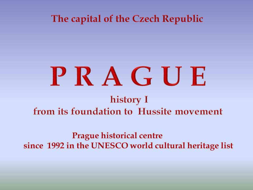 """ANOTACE """" Prague history I"""" – se snaží postihnout hlavní historické okolnosti proměny města od jeho vzniku do husitských válek. Prezentace je určena z"""