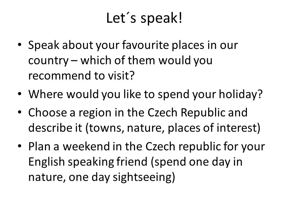 Let´s speak.