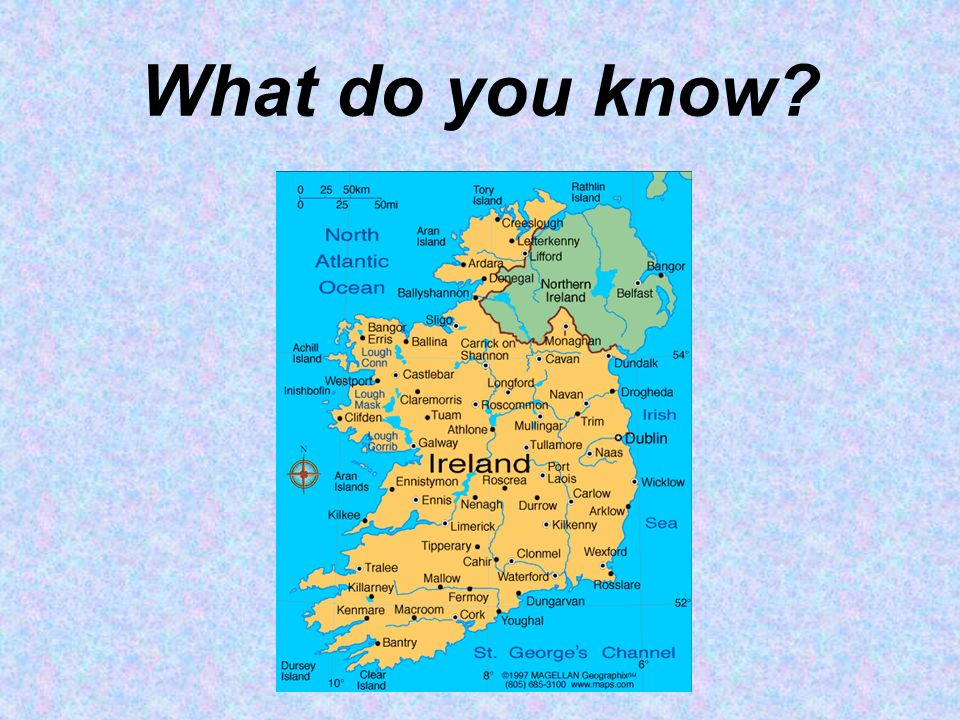 Location Ireland is NOT a part of UK The capital city is Dublin Ireland is west of the United Kingdom (England, Scotland, Wales) Population: 4 600 000 people Area: 70 273 km 2 Currency:Euro (€)