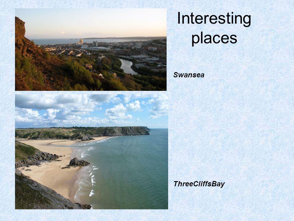 Interesting places Swansea ThreeCliffsBay