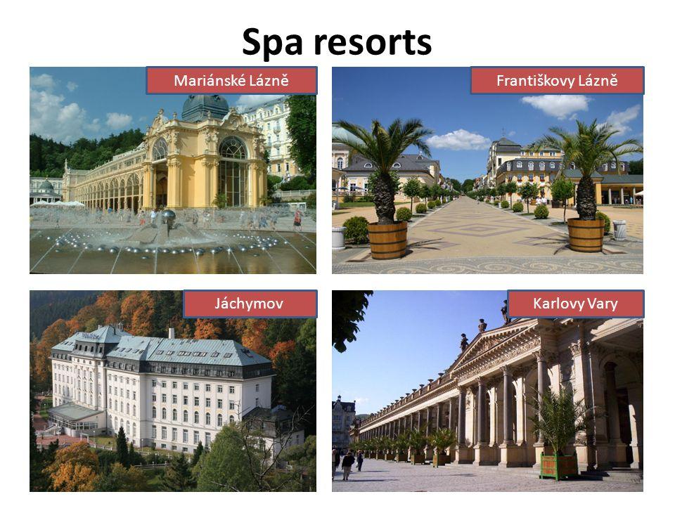 Spa resorts Mariánské LázněFrantiškovy Lázně JáchymovKarlovy Vary
