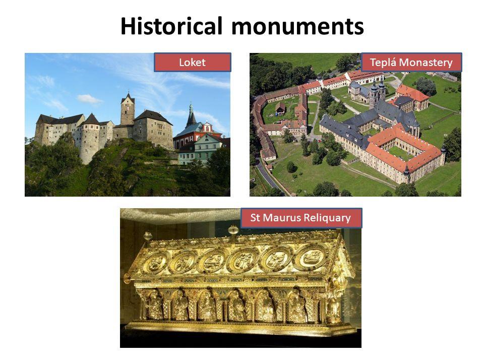 Historical monuments LoketTeplá Monastery St Maurus Reliquary
