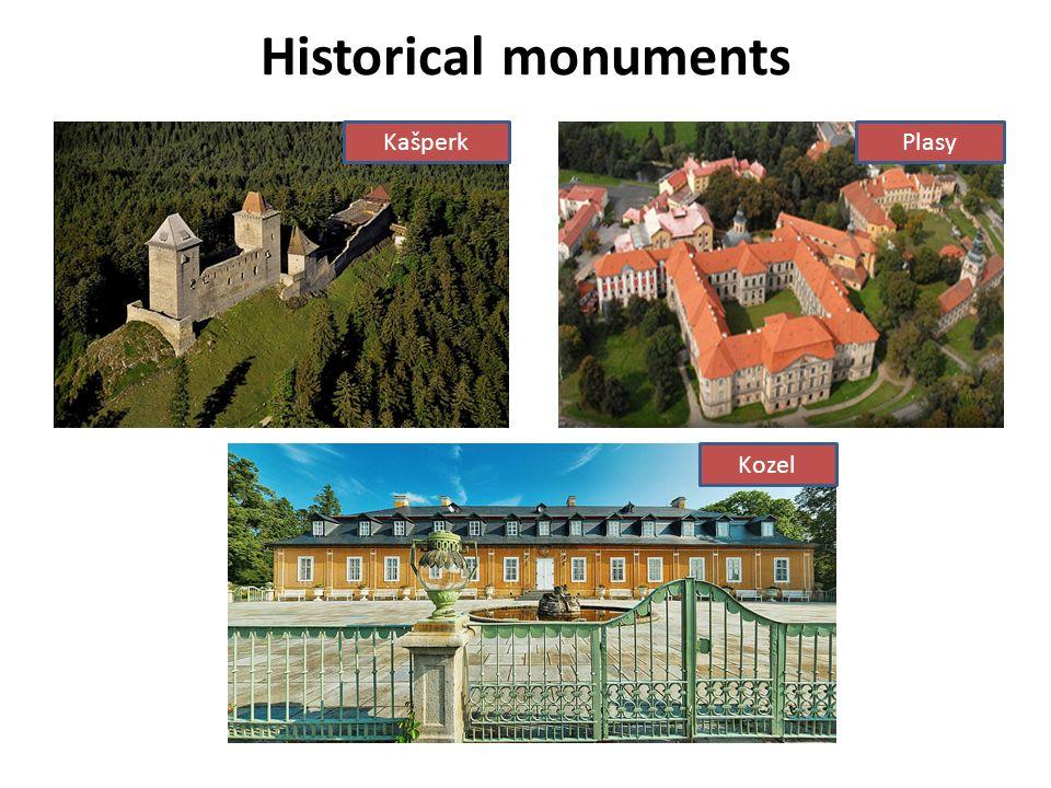 Historical monuments Kašperk Plasy Kozel