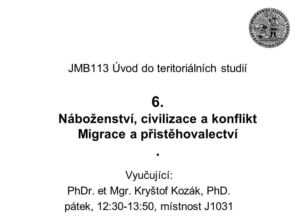 JMB113 Úvod do teritoriálních studií 6.