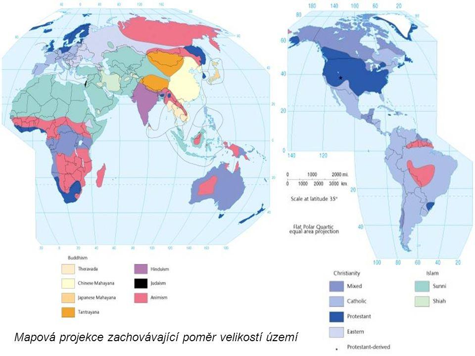 Mapová projekce zachovávající poměr velikostí území
