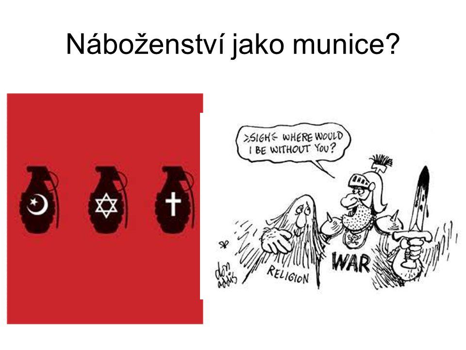 Náboženství jako munice?