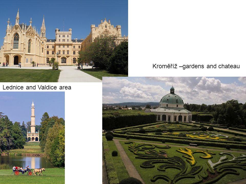 Lednice and Valdice area Kroměříž –gardens and chateau