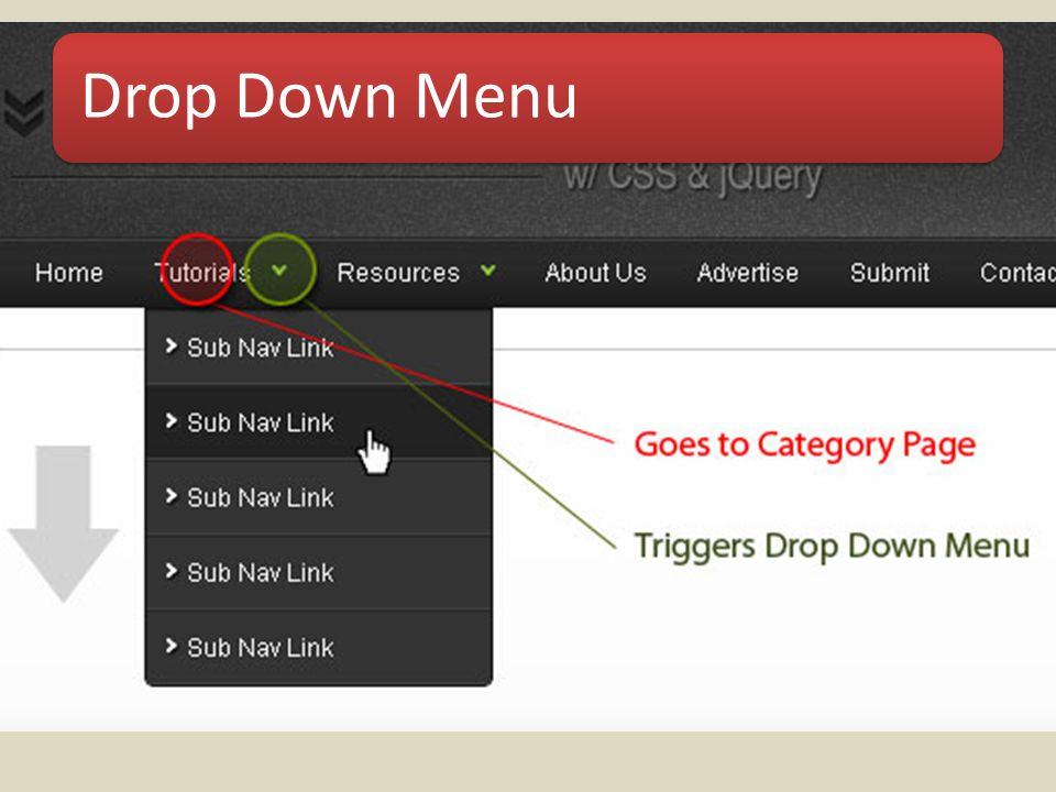 Drop Down Menu