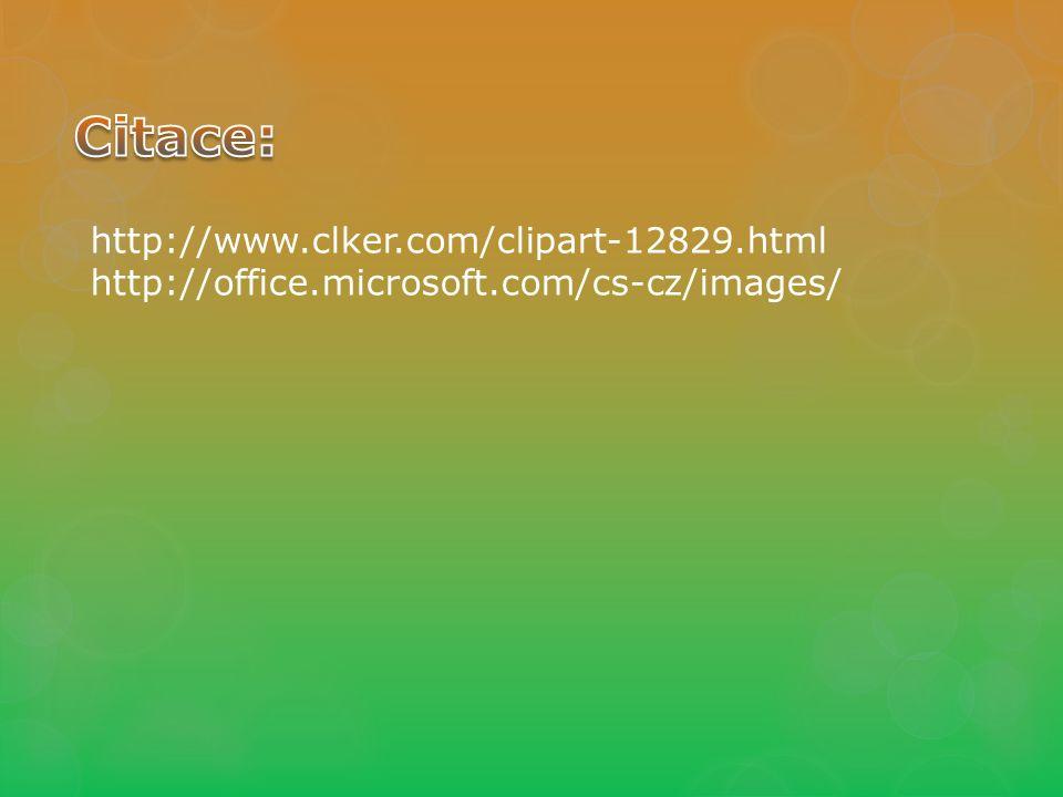 http://www.clker.com/clipart-12829.html http://office.microsoft.com/cs-cz/images/