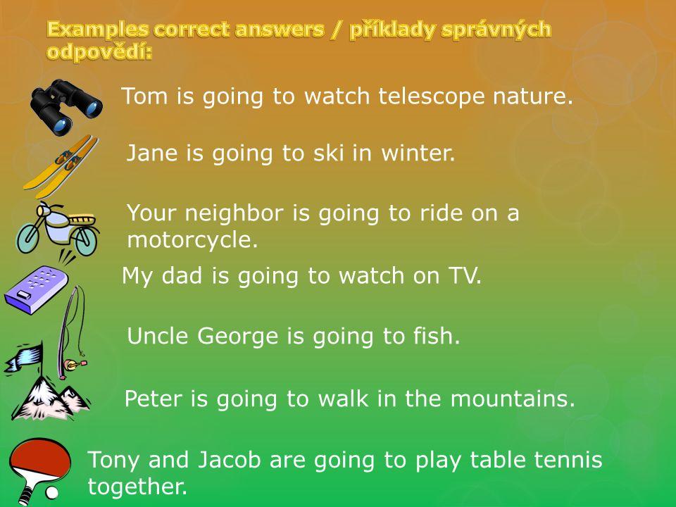 Question expression in the future tense /otázka vyjádřená v bud. čase Areyougoing tosnorkel?