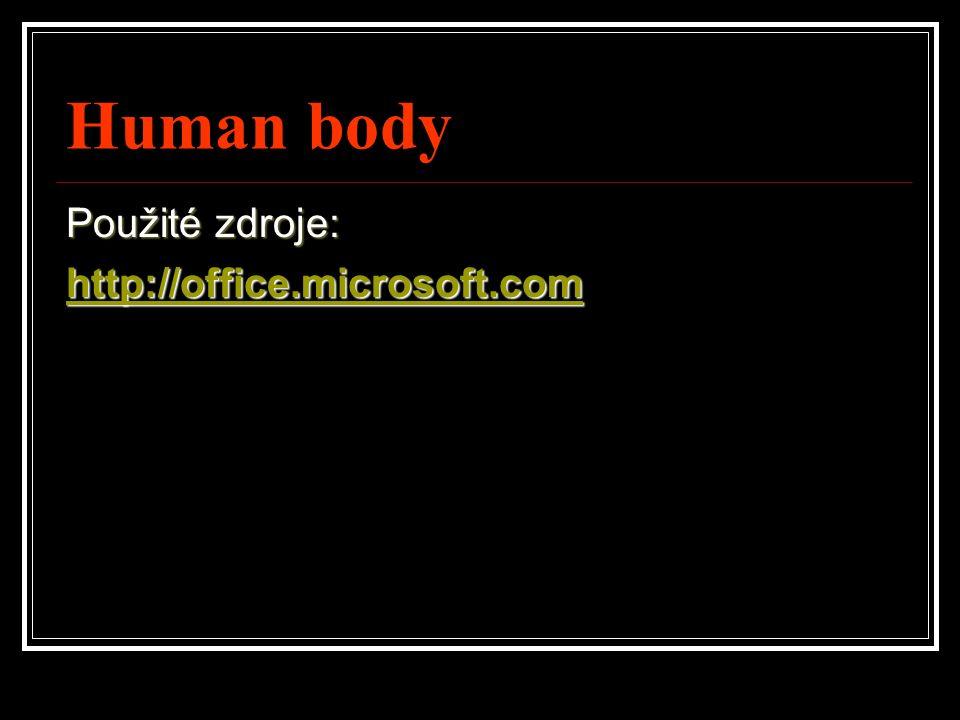 Human body Použité zdroje: http://office.microsoft.com