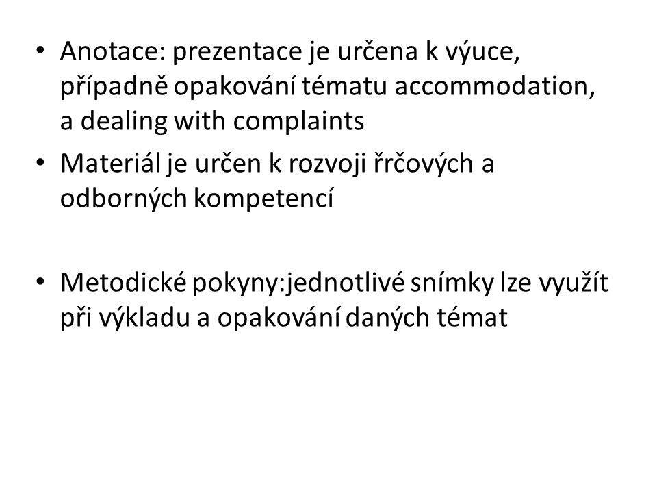 Describing accommodation