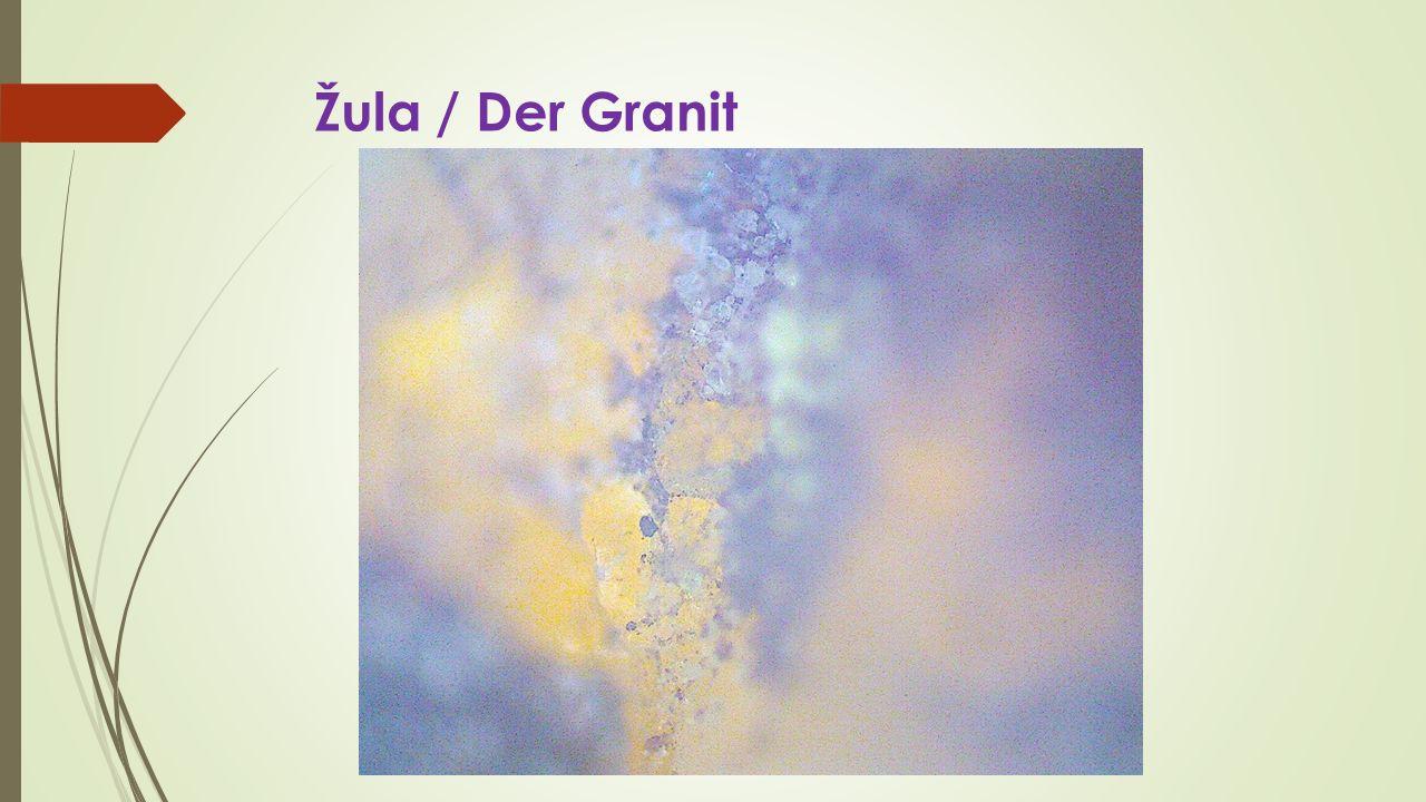Žula / Der Granit