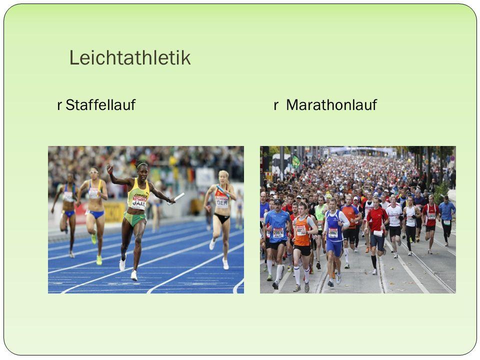 Leichtathletik r Staffellauf r Marathonlauf
