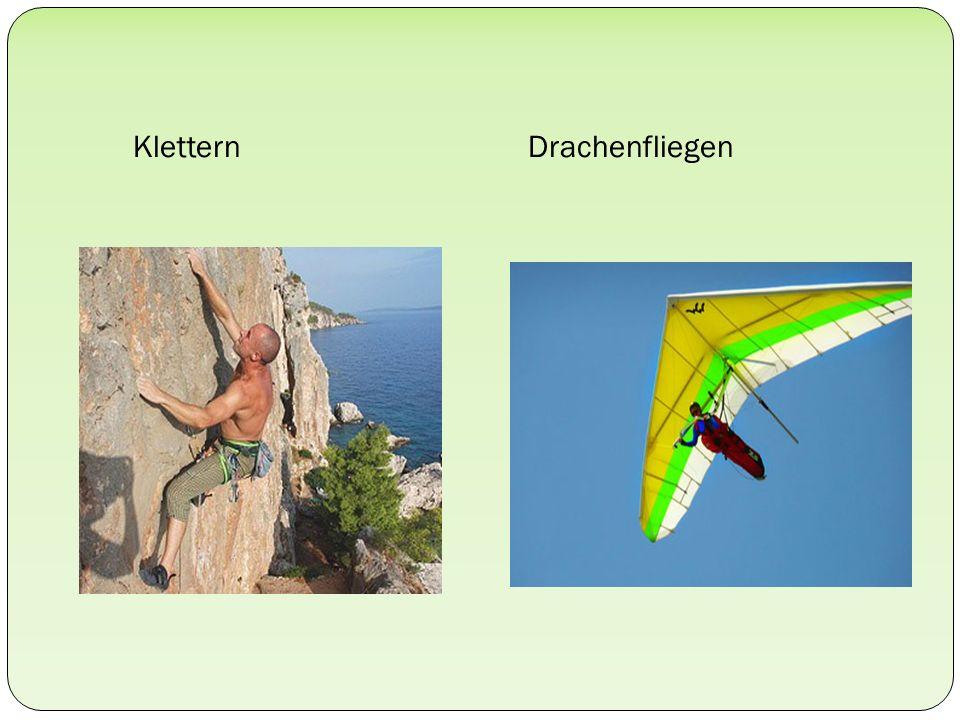 Klettern Drachenfliegen
