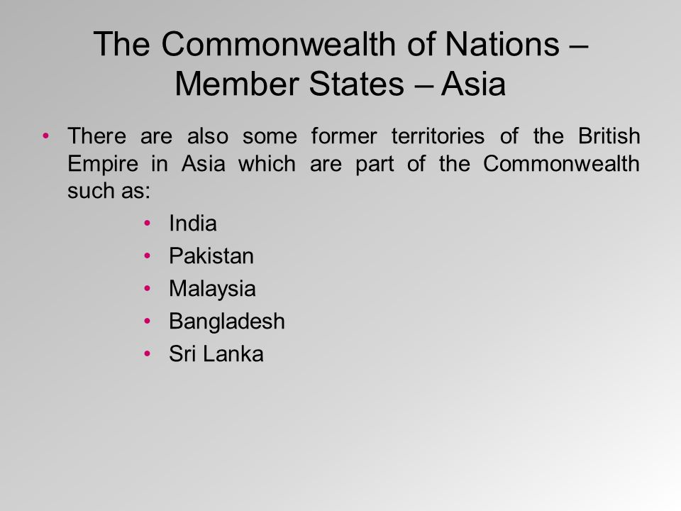 The Commonwealth of Nations – Member States – Australia and Oceania Australia and New Zealand are the largest countries in Australia and Oceania which are member states of the Commonwealth of Nations.