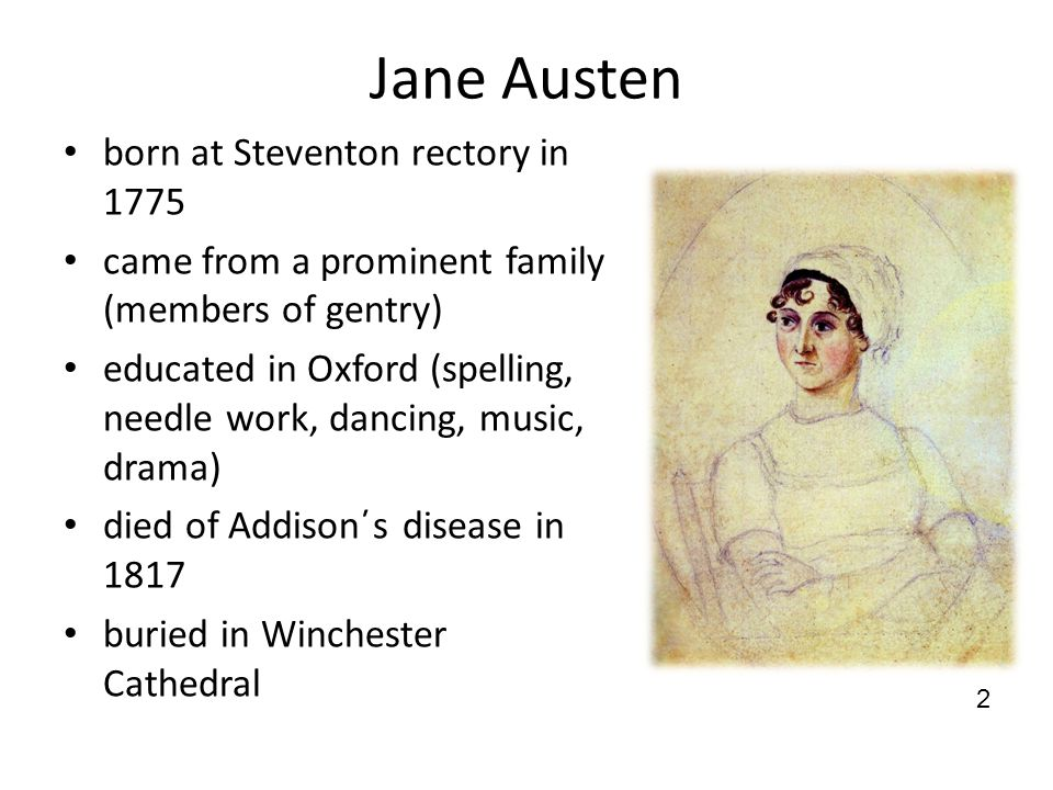 Austen΄s literary life her first novels were not accepted by publishers realism – her novels often focused on society pioneering author of domestic novels (family life, daily routine and everyday family problems) often described dependence of women on men characters: usually well-portrayed, young men presented as the least attractive characters 3