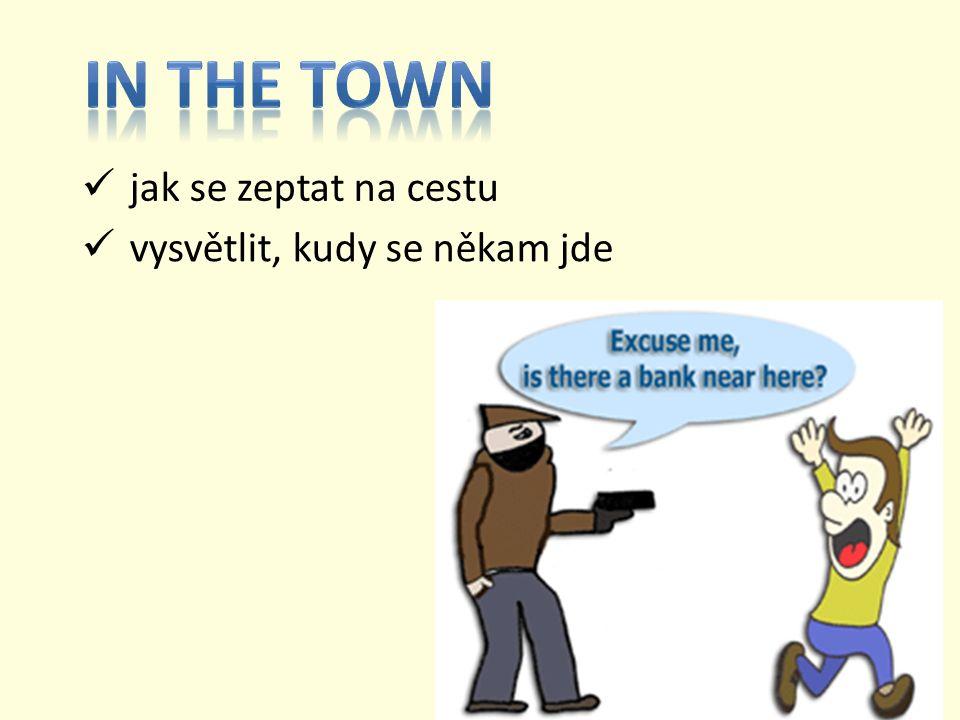 Procvičujte si věty, fráze a spojení na našem městě. Ptejte se a odpovídejte.