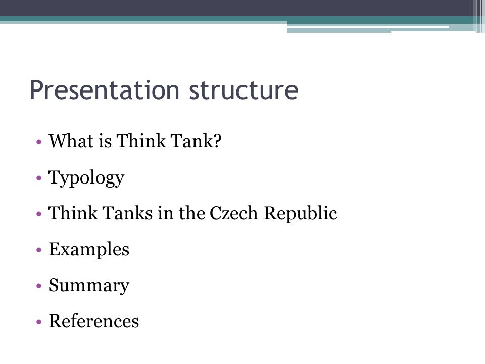 What is Think Tank.