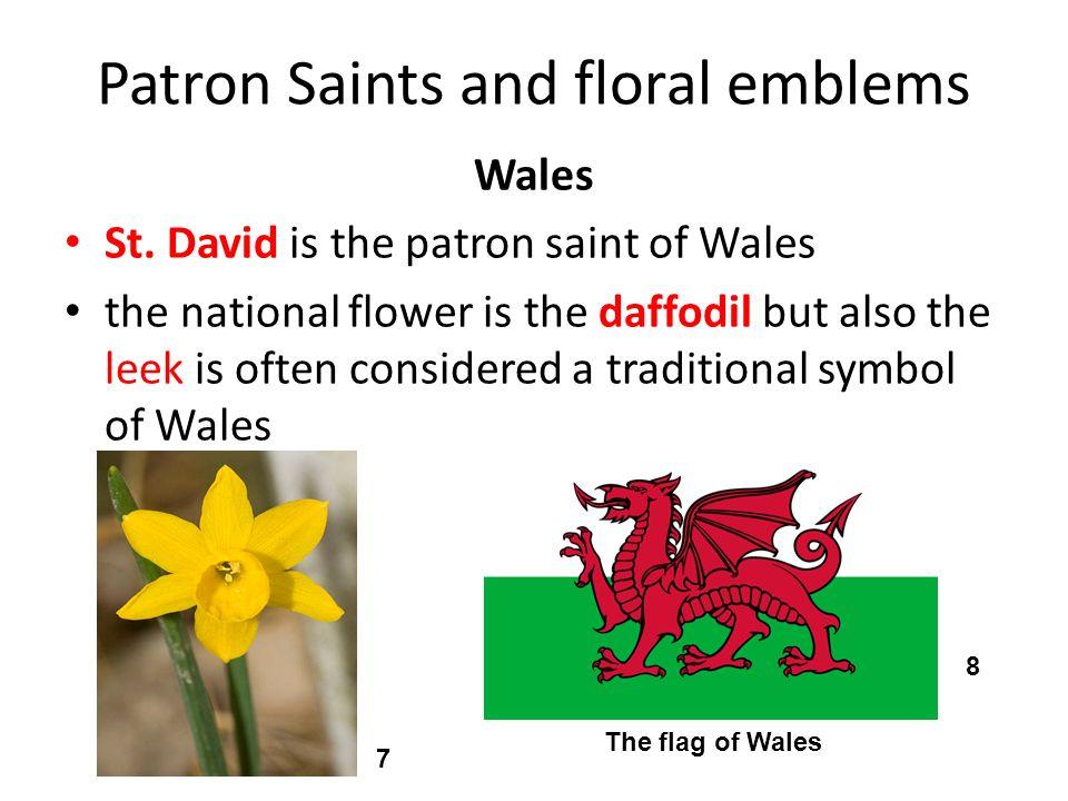 Patron Saints and floral emblems Northern Ireland the patron saint is St.