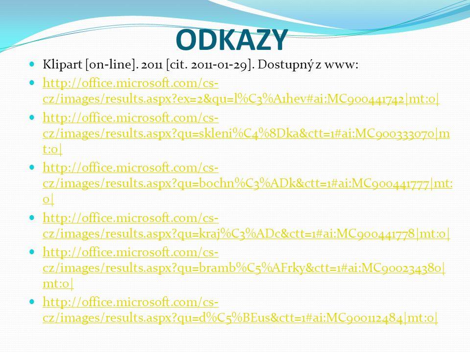 ODKAZY Klipart [on-line]. 2011 [cit. 2011-01-29].