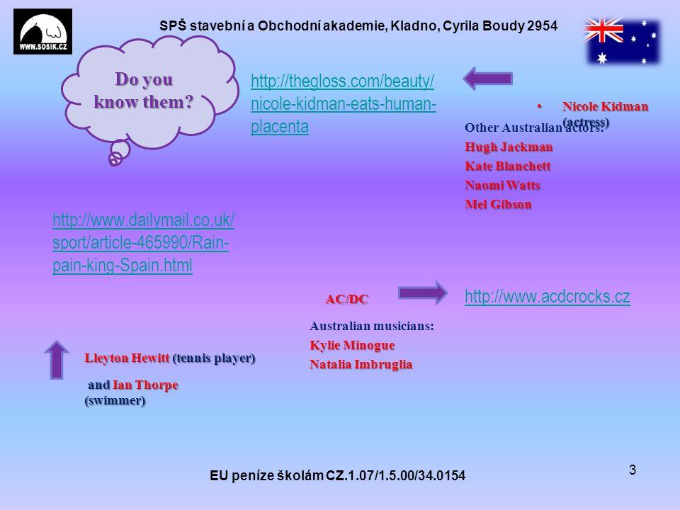 SPŠ stavební a Obchodní akademie, Kladno, Cyrila Boudy 2954 http://thegloss.com/beauty/ nicole-kidman-eats-human- placenta EU peníze školám CZ.1.07/1.5.00/34.0154 3 Nicole Kidman (actress)Nicole Kidman (actress) Do you know them.