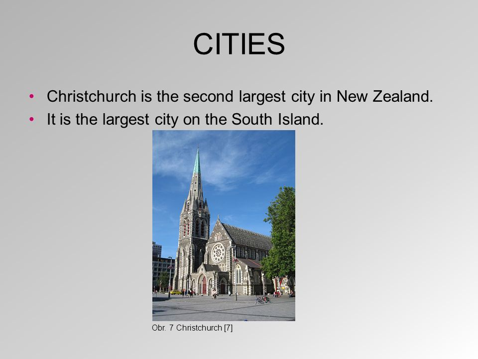 CITIES It is on the east coast of the South Island. Obr. 8 Christchurch on a map [8]