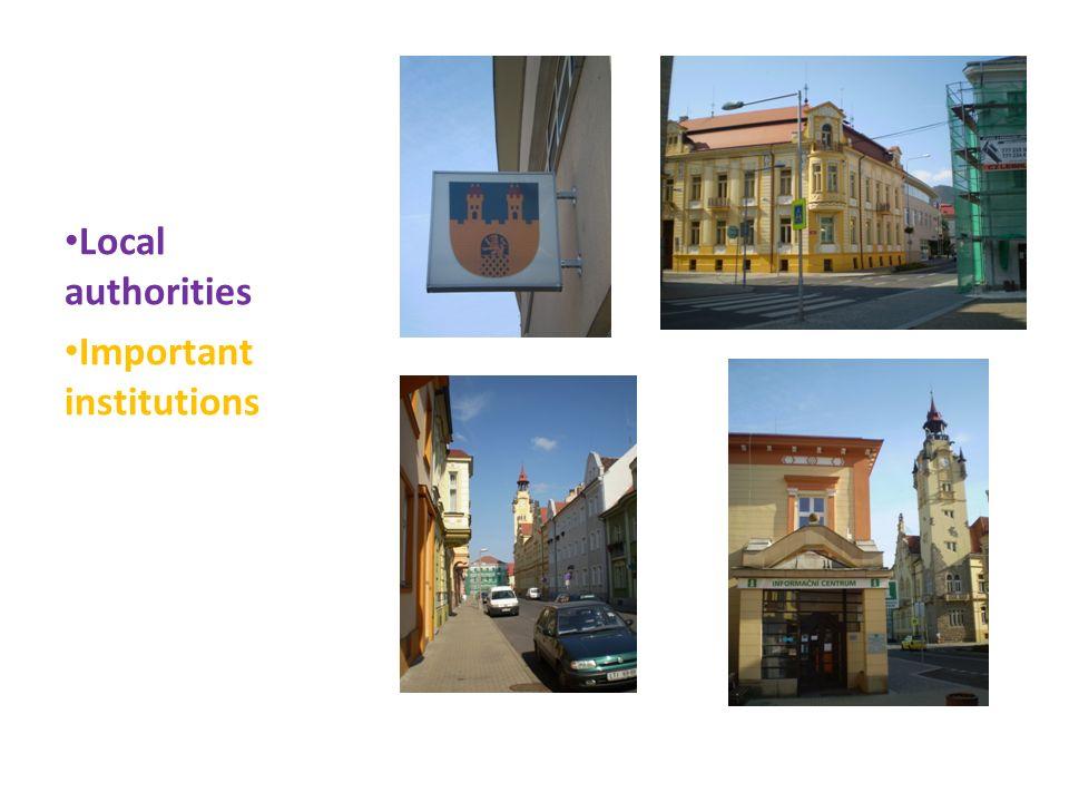 Local authorities Important institutions
